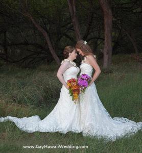 lesbian wedding on Maui