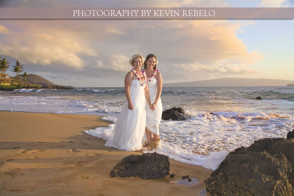 Julie and Marie's gay marriage and wedding on Maui Hawaii
