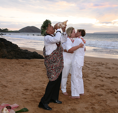 lesbian wedding minister on Maui