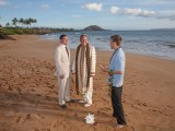 two men getting married on a Maui Beach