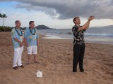 Hawaiian ring blessing at maui gay wedding ceremony