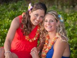 pretty women at their gay weddings in hawaii