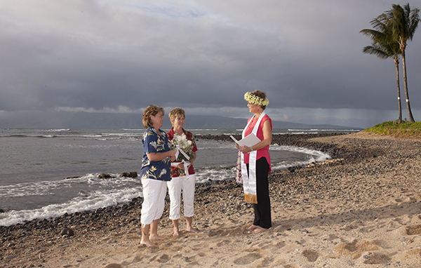 Gay and Lesbian weddings in Kaanapali and Lahaina, Maui