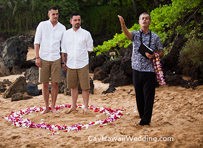 gay wedding on maui location