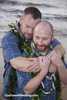 A gay and lesbian wedding on Maui, Hawaii