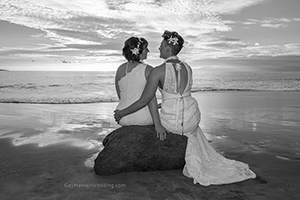 gan and lesbian vow renewal on maui